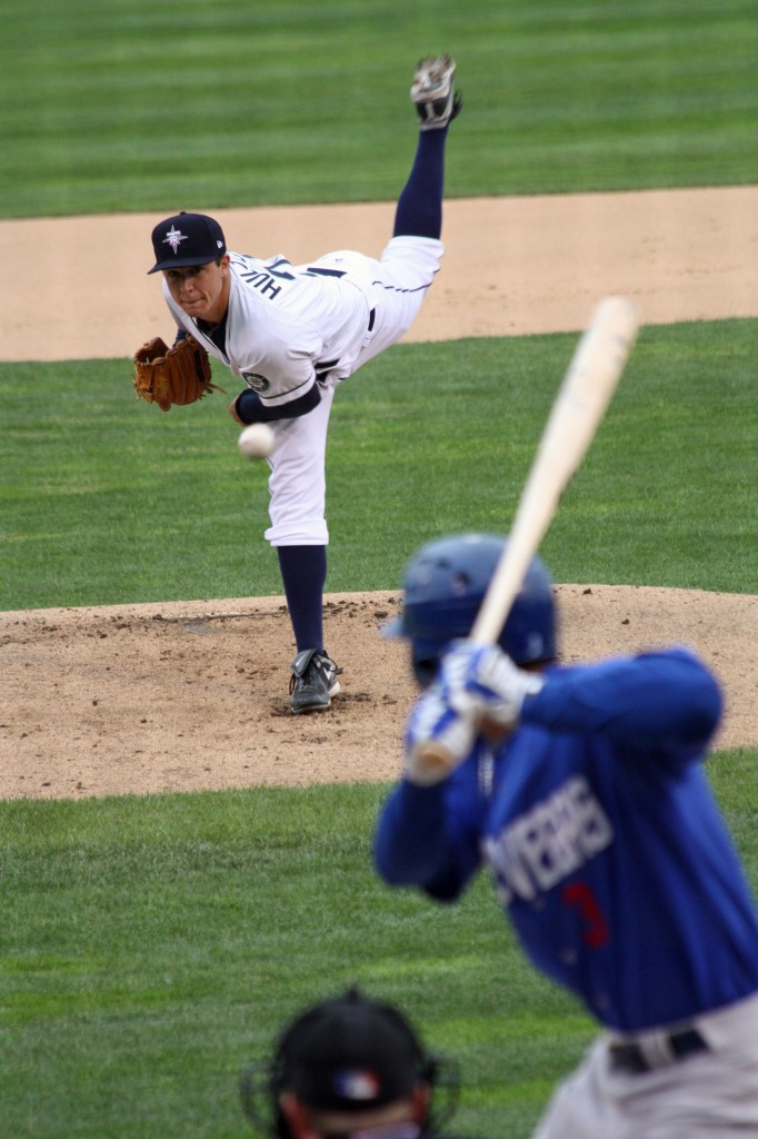 Danny Hultzen throws a pitch to Anthony Gose of Las Vegas