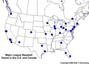 The AntiBaseball Road Trip USS Mariner - Mlb us map